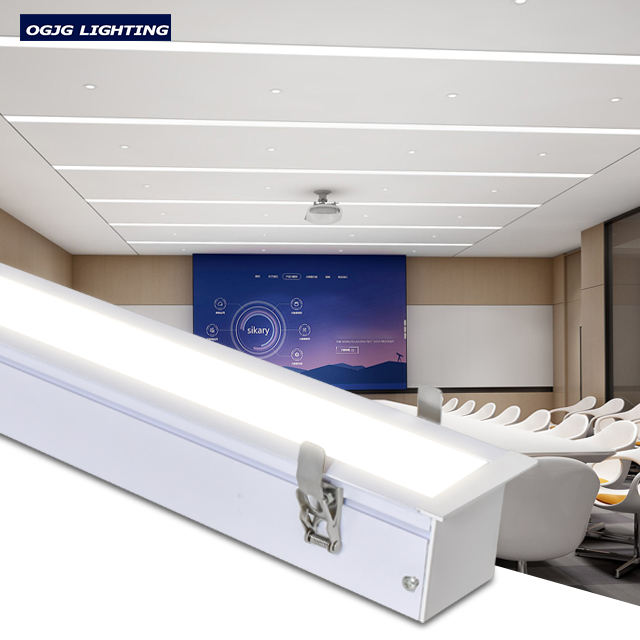 Factory price conference room 40w 60w 80w 120w recessed led batten luminaires stair surface mounted motion sensor linear light