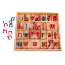 Wholesale custom kindergarten montessori wooden material arabic movable alphabet letters language learning