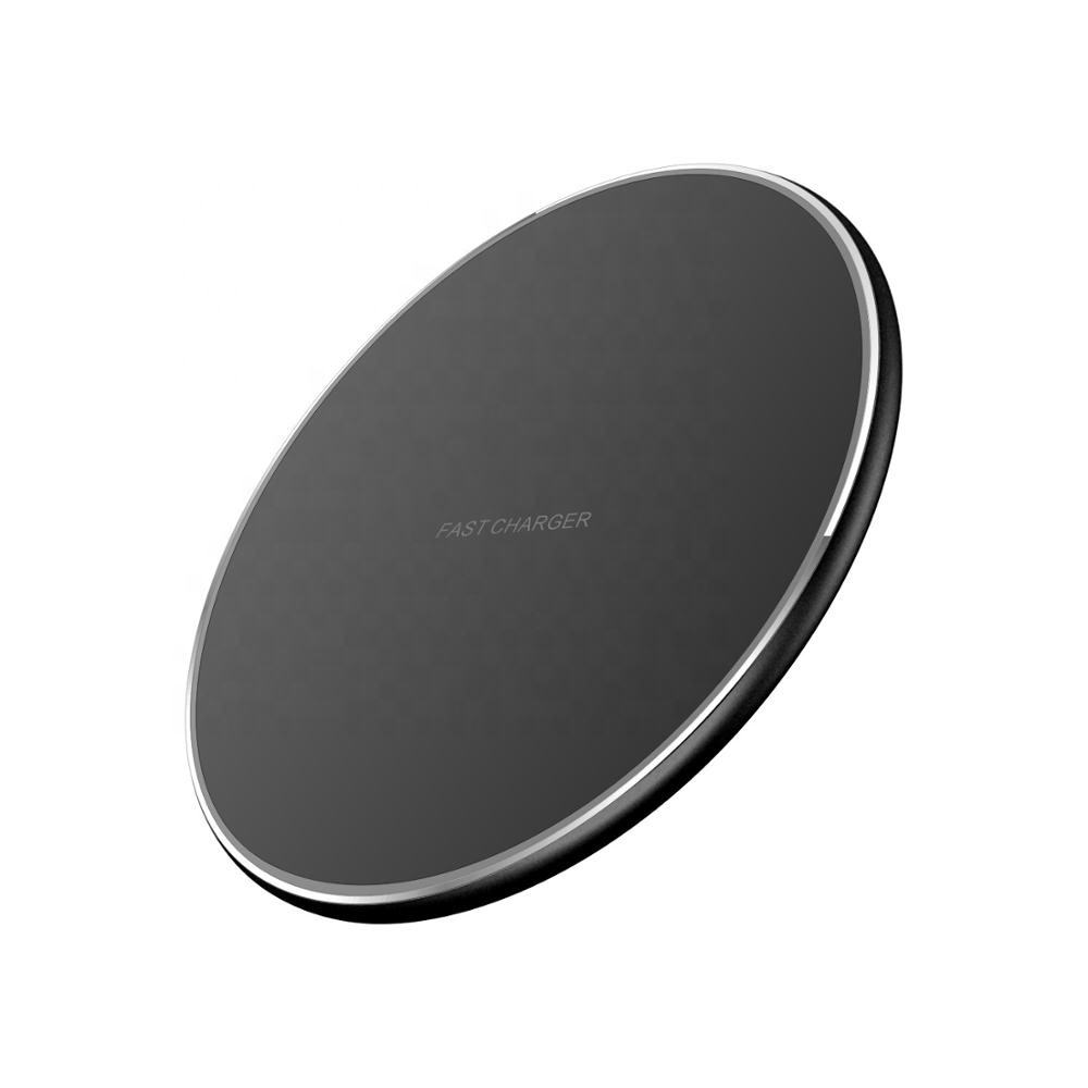 Cheapest Promotion Gift QI 10W Output Fast Charging Mobile Phone Wireless Charger for iPhone Huawei Samsung