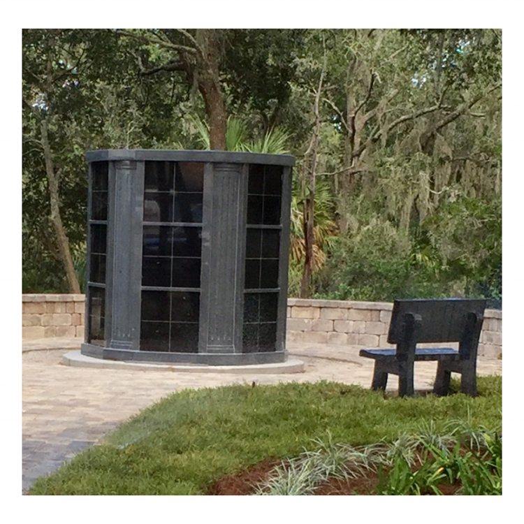 Customized Design 72 Niches Hexagon Columbarium, Granite Niche Columbarium For Sale