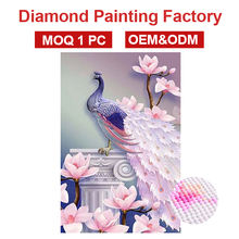 2020 NEW SELLING FACTORY PRICE peacock diamond dot painting 5D full drill square diamond paintings WITH OEM ODM