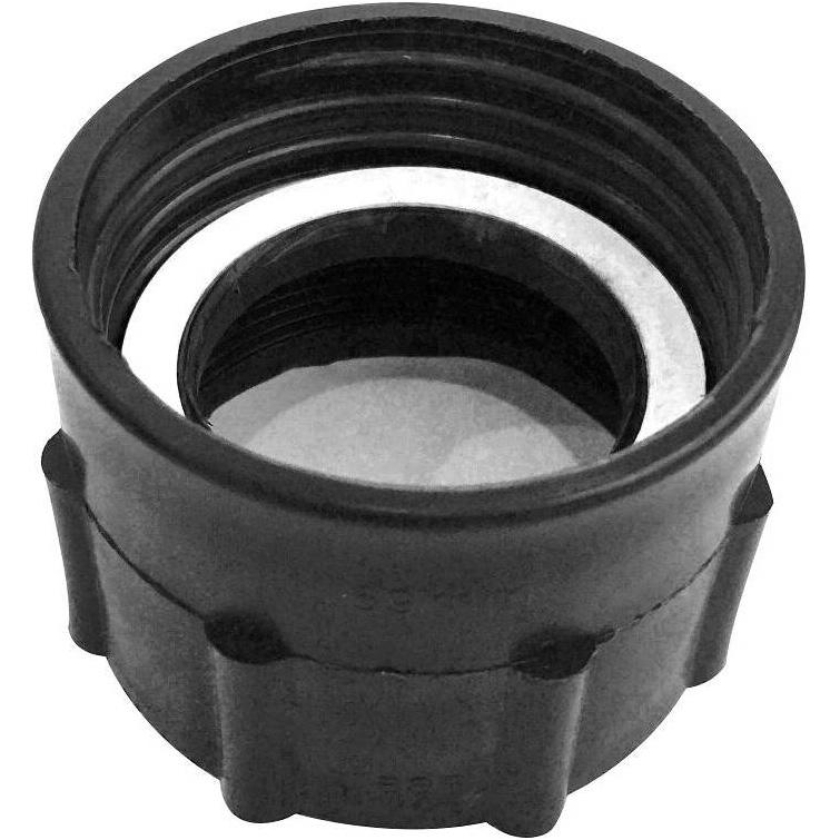 "PP IBC Tote Tank Adapter/Fitting Connector 2"" BSP Female to 59mm Female Plastic Drum Coupling"