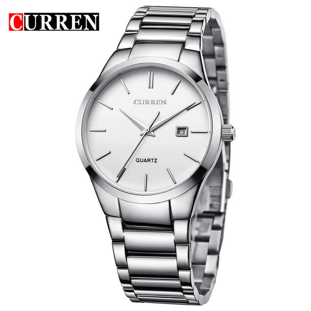 CURREN 8106 Mens Quartz Watches Stainless Steel Analog Japan Movt Quartz Watch Men Business Watch
