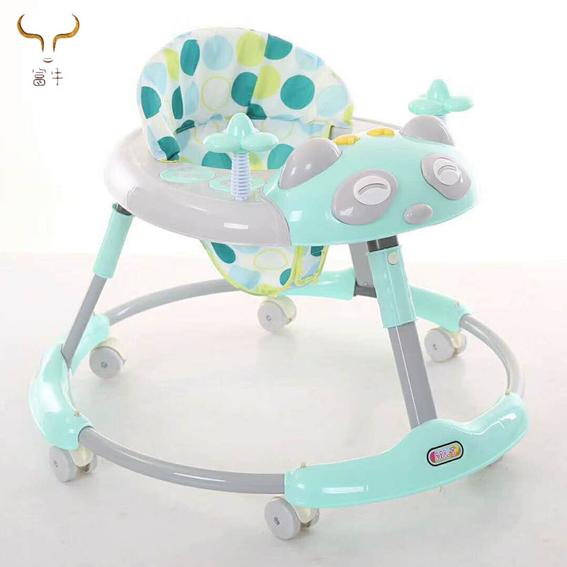 Newly Baby Walker Wheels car with Music/Toddler Safety Anti-Rollover Seat First Steps Toys Infant Walker kid Multifunctional Car