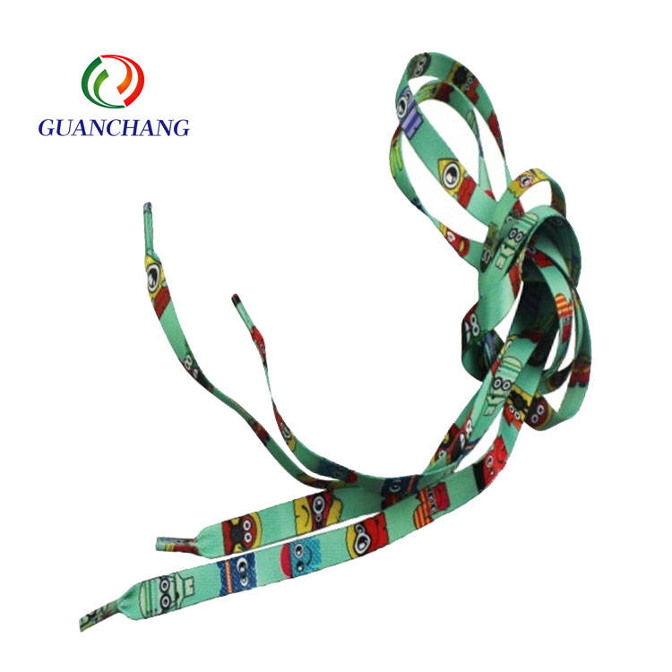 Custom polyester sublimation printing no tie bulk shoelaces