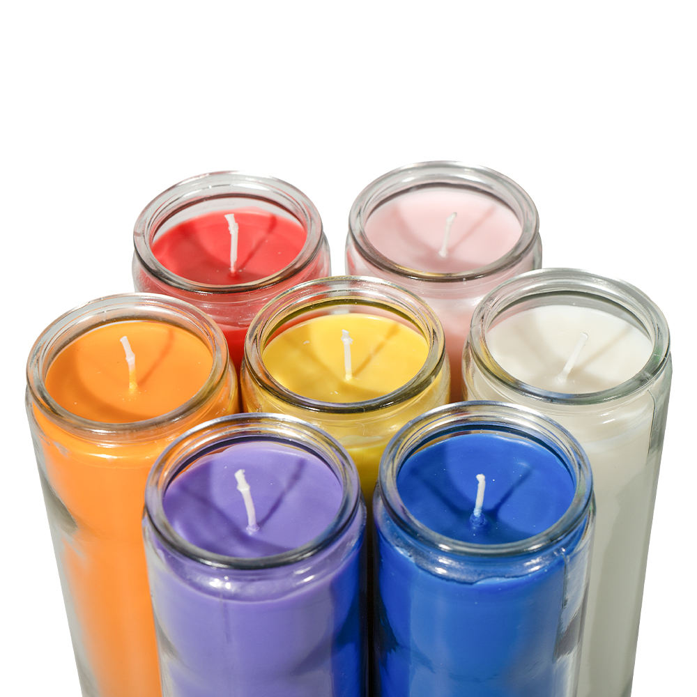 Wholesale Custom Energy Spirit Glass Jar 7 Days color candles