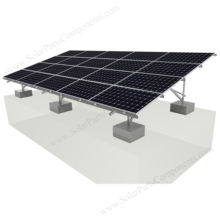 Galvanized steel Solar Energy Ground Mounting ground solar rack system Concrete Foundation