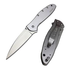 Kershaw 1660 leek all steel handle 8CR13MOV stainless steel blade outdoor camping outdoor survival hunting fishing folding knife