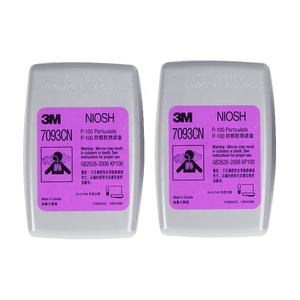 3M 7093CN NIOSH P100 Particulate Filter used with 3M 6200, 6800, 7502 respirator for personal protection