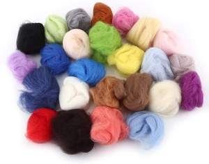 wholesale starter tools 24 colors set wool yarn roving needle felting kit for hand spinning DIY craft materials