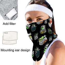 Breathable windproof dustproof mask sunscreen scarf outdoor riding mask with pierced ears