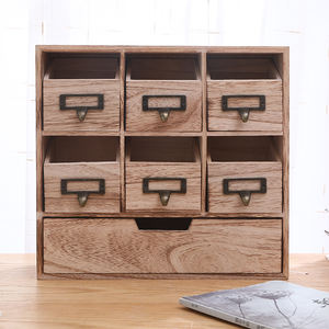 Unfinished Wood Small Wooden Storage Cabinet Drawers