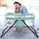 wholesale high quality baby bassinet metal coating frame mobile baby carry cot