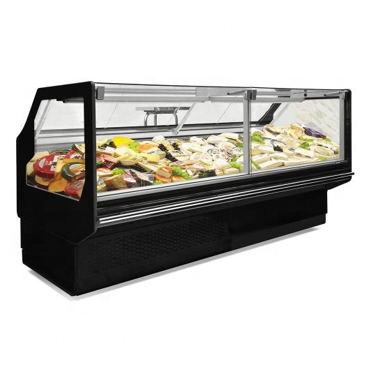 Factory Price Commercial Meat Display Refrigerator Fresh Meat Display Showcase Butchery Equipment