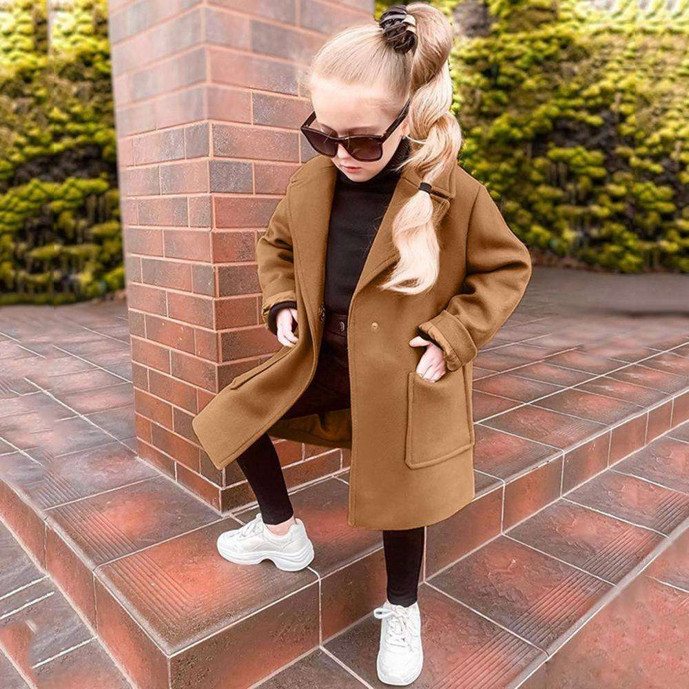 CHUYA China Manufacture Hot Sale England Style Baby Woolen Winter Coat