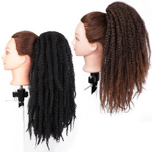 Vigorous Afro Kinky Curly Ponytail Marley Braids Twist Hairpiece Frizzy Synthetic Crochet Braids Hair Extensions Bulk