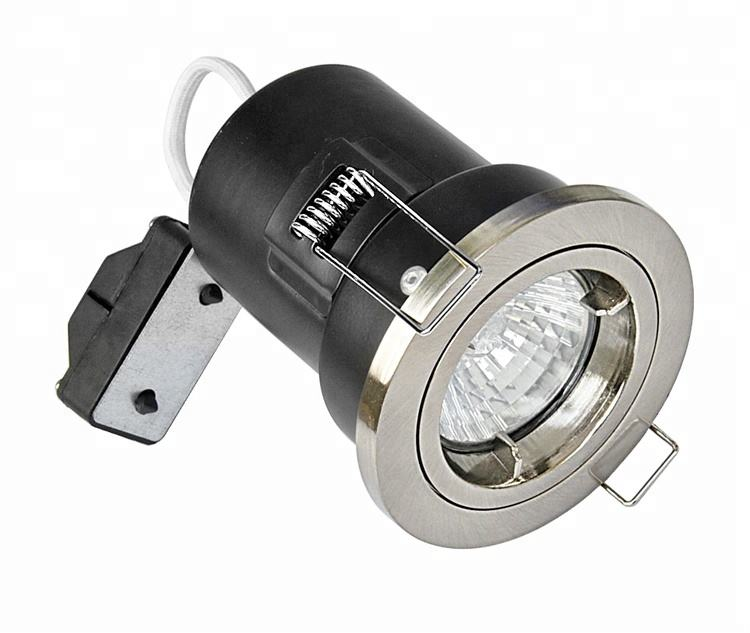 Lage Voltage Uk Vaste IP65 Gu 10 Verzonken 100-240 V/Ac Brandwerende Downlight