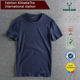 Wholesale 100% cotton fashion men t shirt round crew slim fit pure colour spring and summer style