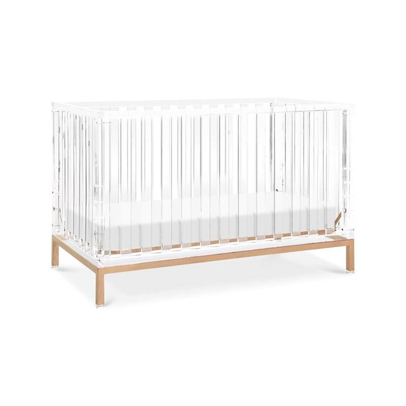 Fabricage Clear Acryl Babybedje Bed Lucite Baby Meubels