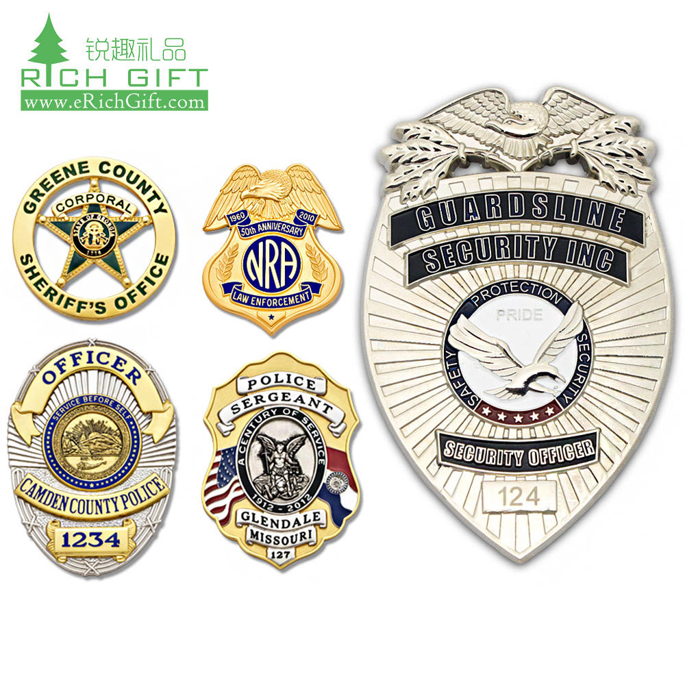 Golden supplier china custom made to order metal 3D uk uniforms army military scout security badges