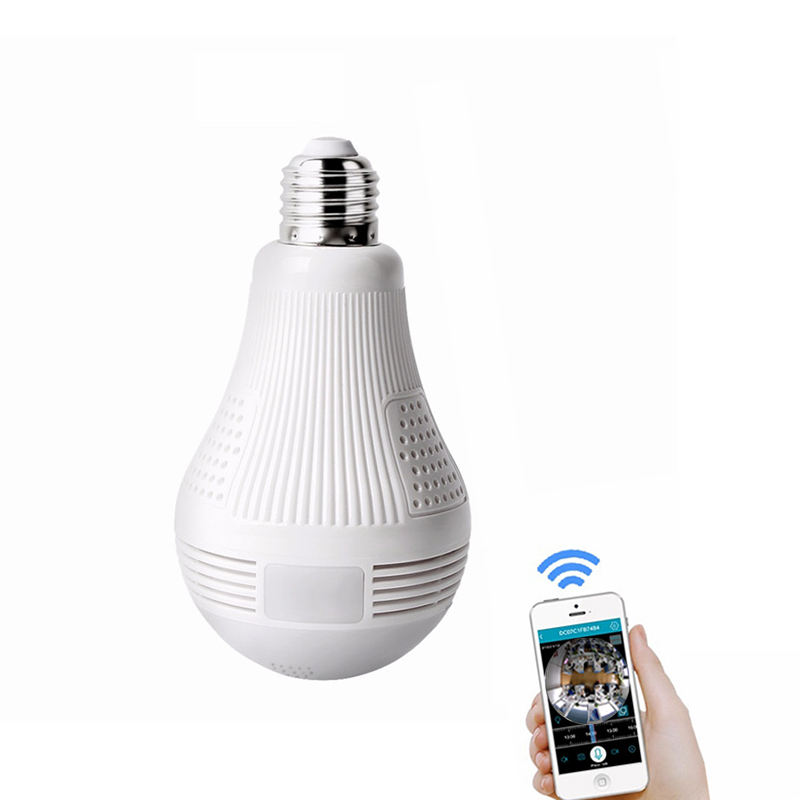 Low Price 960P/1080P VR Wireless WIFI P2P Alarm Two-way Audio Panoramic IP Camera Fisheye 360 Light Bulb CCTV Camera