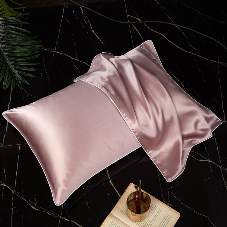 19mommie100% mulberry silk satin plain dyeing pillowcase pillow protector silk pillow case