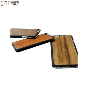 plastic mobile phone case cover with solid wood skin