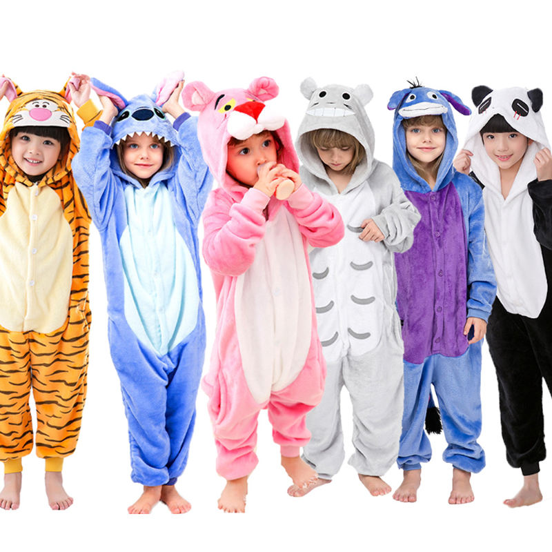 child for clothes Winter Sleepwear Boys Girls Pajama Set Cute Stitch Unicorn Skeleton Animal Kids Pyjama Pijama