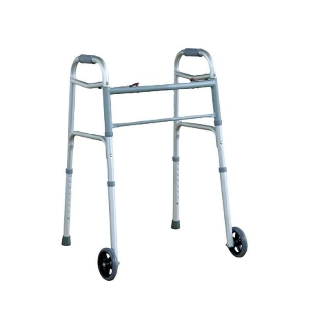 handicapped orthopedic walker with wheel foldable front wheel lightweight walking frame with wheels adult lightweight children