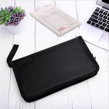 13 Pockets Office File Storage With Label Insert Folder A4 Document Plastic Envelope Fireproof Organizer Bag