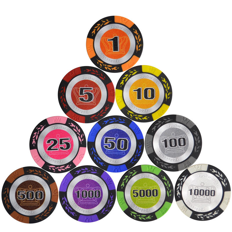 40 mm crown wsop blank poker chip set oversized rounders low price casino mini jetton numbers paulson poker chips
