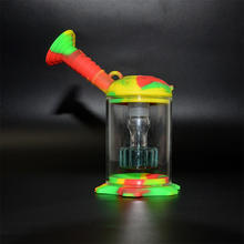 Smoking Accessories Battlestar Shape Silicone Water Pipe Smoking With Banger