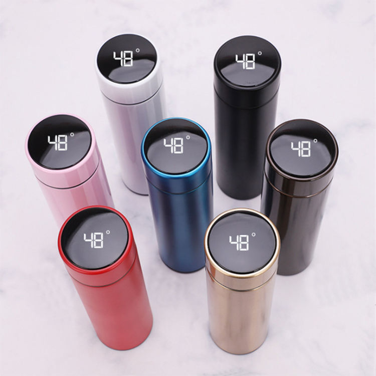 custom logo Touch Led Digital Smart Stainless Steel Vacuum Thermos With Temperature Display Flask