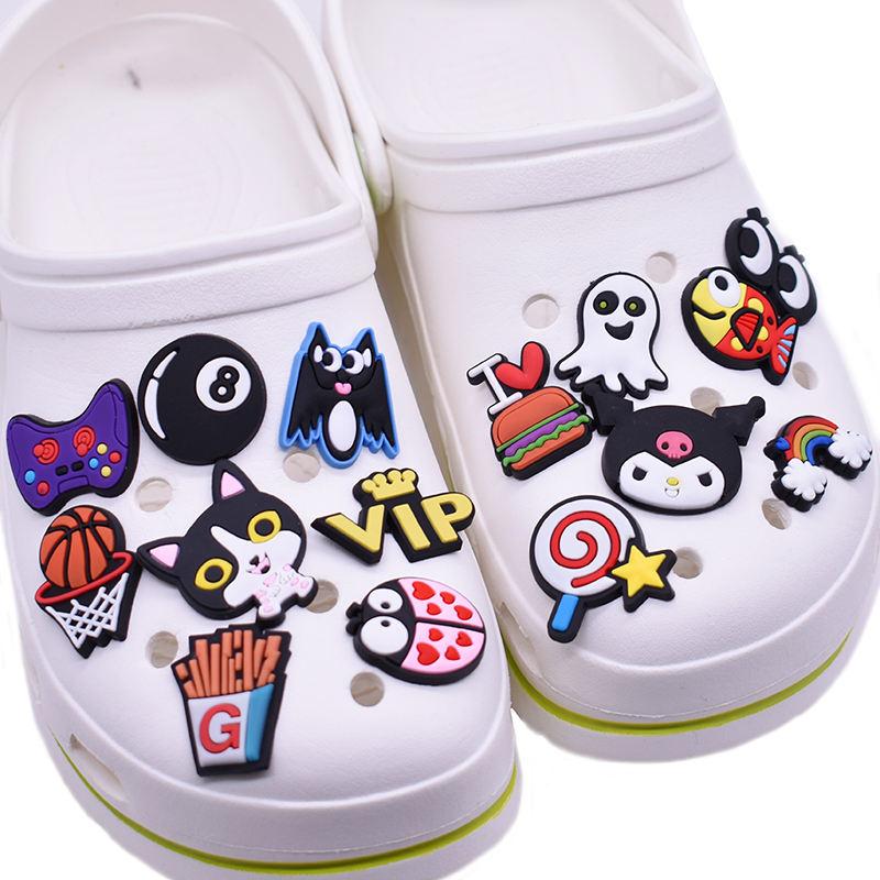 US Stock 500PCS Different Shoe Charms Accessories fit Jibbitz Clog Shoes Bands