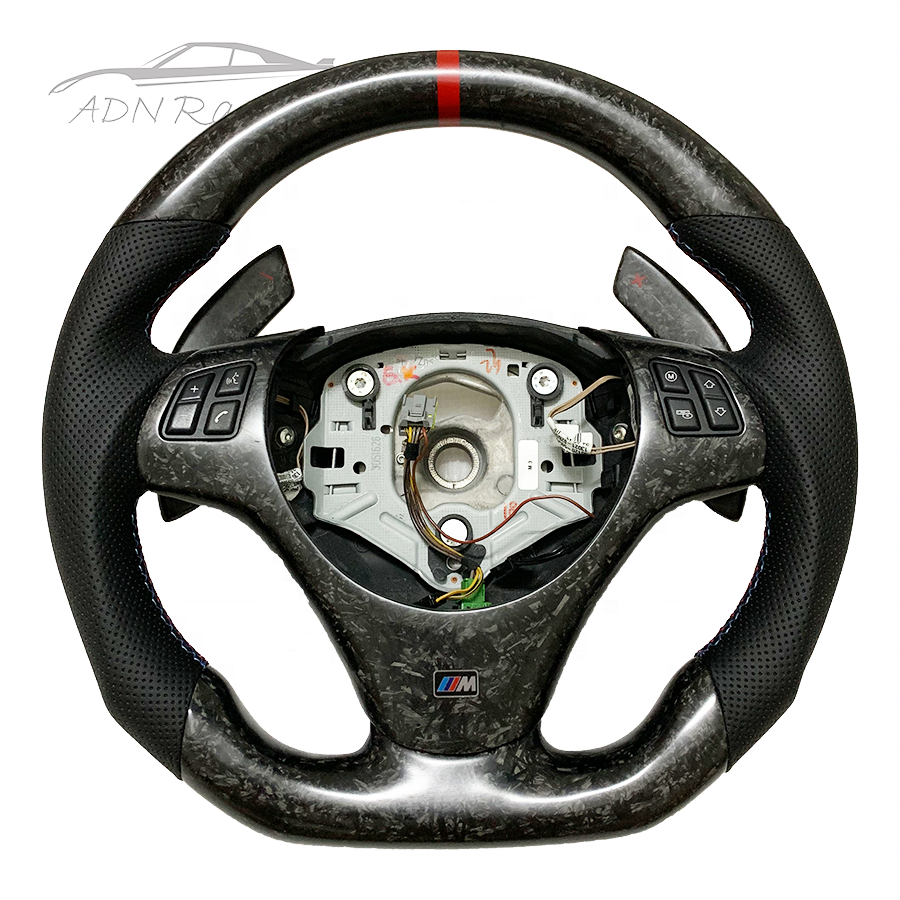 OEM E90 E91 E92 E93 Automatic Customized Forged Carbon Fiber Steering Wheel For BMW M3 M4 M5 M6
