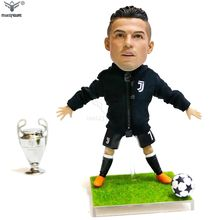 15cm lifelike football player action figure toy with cloth, custom made realistic action figure, Messi & C Ronaldo action figure