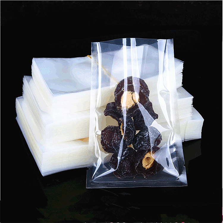 plastic mylar custom printed sealer pouches clear transparent food snack nuts vacuum packaging bags with logo