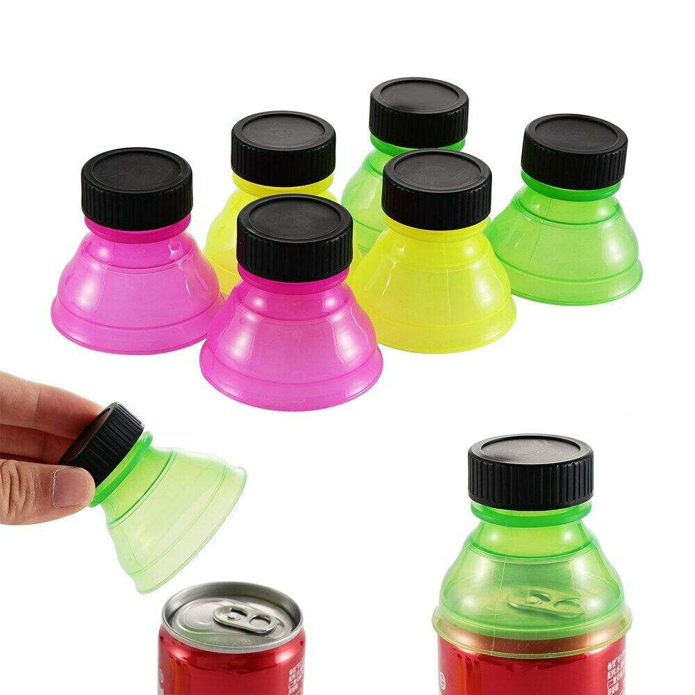 Plastic Drinking Bottle Caps Can Convert Soda Savers Toppers Reusable Tops Soda Can Lids Bottle Tops for Cans Soda Caps
