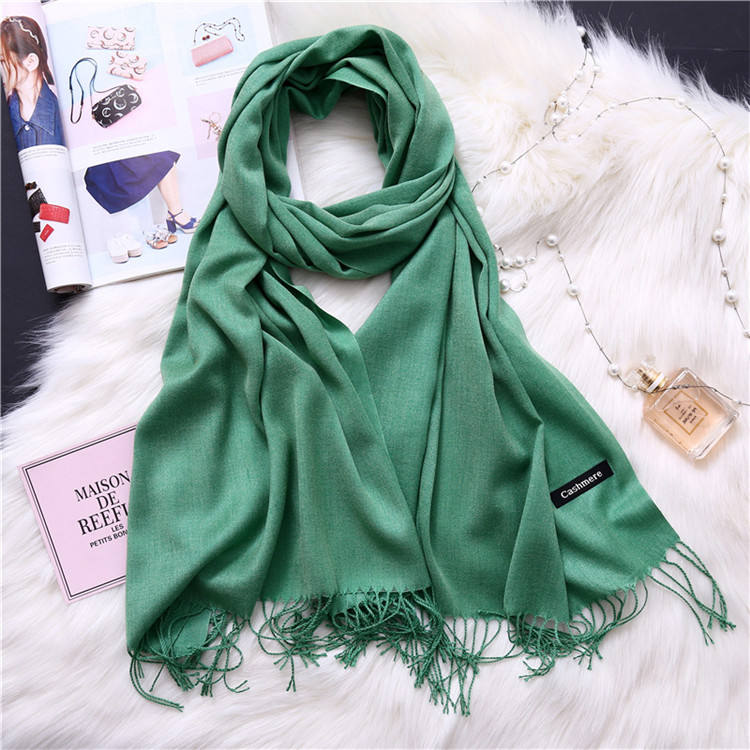 Multicolored fashion scarf pashmina women turkish shawl winter