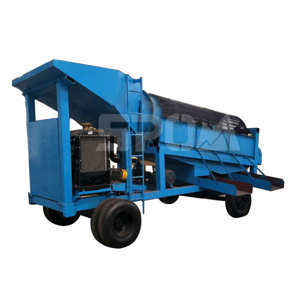 50-100Tph Copper Ore Processing Diamond Mobile Trommel Screen Plant Price