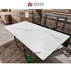 Rectangle beveled edge fake/faux marble top ariana white quarts/quartz stone artificial restaurant marble dining table top