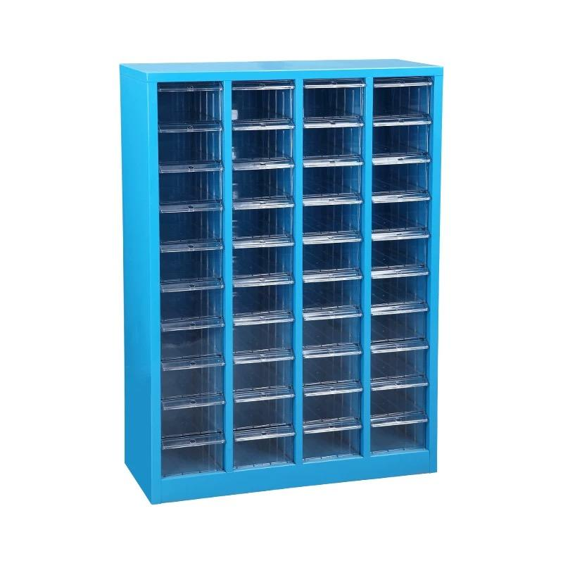 Wholesale cheap plastic transparent plastic 40 drawers sky blue filing storage cabinet