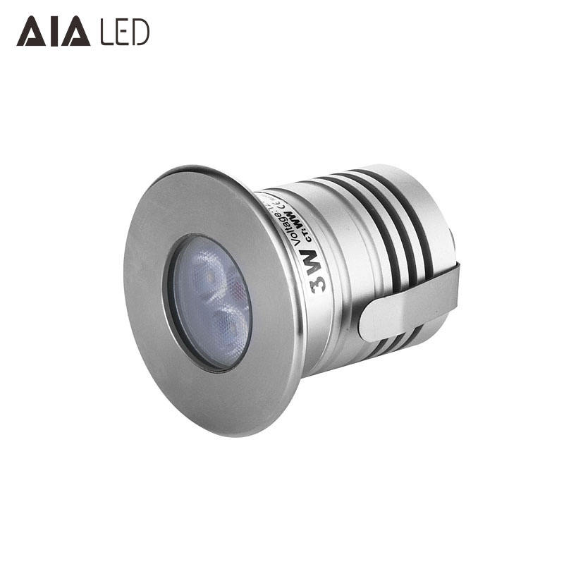 304stainless steel+aluminum best selling IP67 waterproof 3W led underground lamp outdoor led buried light for steps