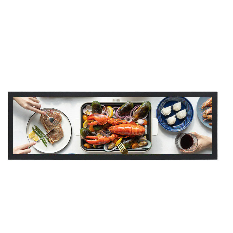 Winkelcentrum Stretch Screen 28 Inch Bar Strip Multi Lcd-scherm Digitale Signage Plank Ultra-Brede Reclame Lcd Speler