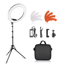 TRAVOR RL-18 dimmable photography led camera shooting lamp beauty makeup 18 inch led video ring light with tripod for YouTube