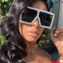 Hot sale luxury bling square rhinestone sunglasses oversized party flash women sun glasses wholesale ready to ship
