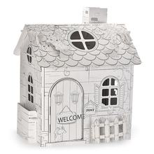 Educational doodle house 3d diy puzzle painting toy