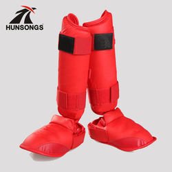 karate shin&instep guards approved!! martial arts shin instep guard