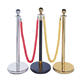 JESSUBOND Stainless Steel Crown Head Rope Barriers, Q Manager Rope Stanchions
