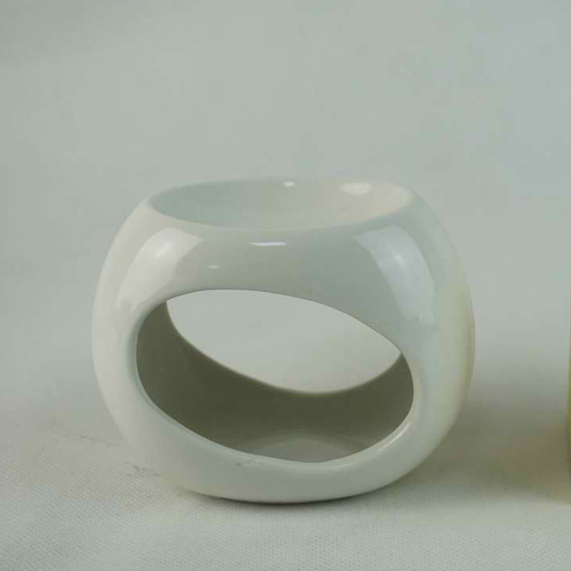 Logotipo personalizado de cerámica círculo cera caliente vela derretir titular <span class=keywords><strong>quemador</strong></span> de incienso para comida preparada